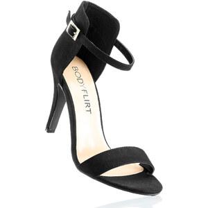BODYFLIRT Sandales noir avec 9 cm haut talonchaussures & accessoires - bonprix