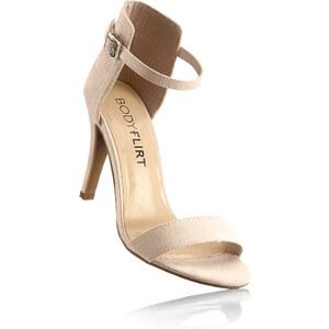 BODYFLIRT Sandales beige avec 9 cm haut talonchaussures & accessoires - bonprix