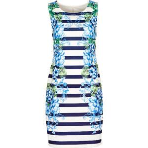 Robe d'été: Robe courte bleue sans manches femme - bonprix