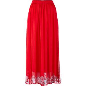 bpc selection premium Jupe avec paillettes à la base rouge femme - bonprix