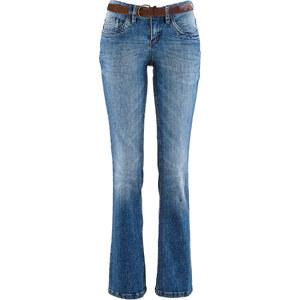 John Baner JEANSWEAR Jean extensible BOOTCUT avec ceinture, T.L. bleu femme - bonprix
