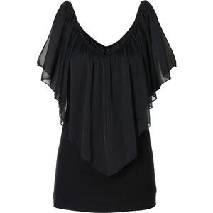 BODYFLIRT boutique T-shirt noir manches courtes femme - bonprix