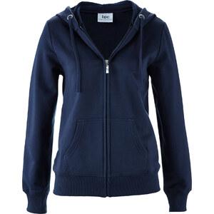 bpc bonprix collection Gilet sweatshirt bleu manches longues femme - bonprix