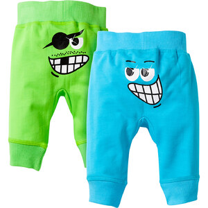 bpc bonprix collection Lot de 2 pantalons sweat bébé en coton bio vert enfant - bonprix