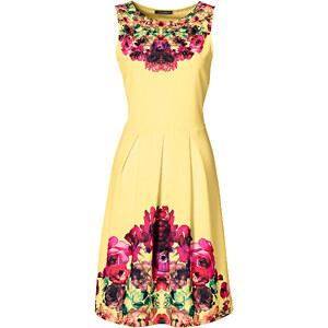 BODYFLIRT boutique Robe jaune sans manches femme - bonprix