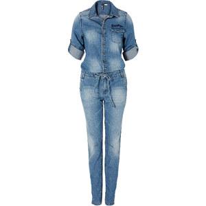 RAINBOW Combipantalon en jean bleu femme - bonprix