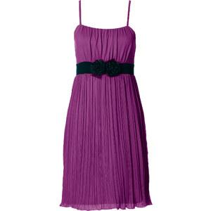BODYFLIRT Robe matière T-shirt violette sans manches femme - bonprix