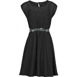 BODYFLIRT Robe noir manches courtes femme - bonprix