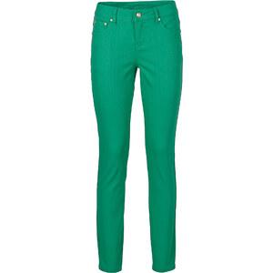 BODYFLIRT Pantalon en twill vert femme - bonprix