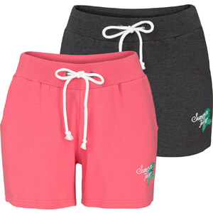 bpc bonprix collection Lot de 2 shorts en sweat fuchsia femme - bonprix