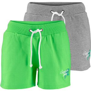 bpc bonprix collection Lot de 2 shorts en sweat vert femme - bonprix