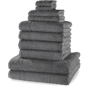 bpc living Serviettes de toilette New Uni (Ens. 10 pces.) gris maison - bonprix