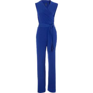 BODYFLIRT boutique Combipantalon bleu sans manches femme - bonprix