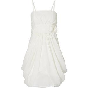 BODYFLIRT Robe blanche Près du corps femme - bonprix