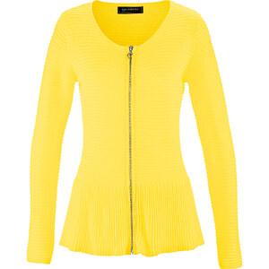 bpc selection Gilet en maille jaune manches longues femme - bonprix