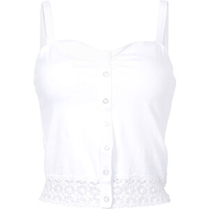 RAINBOW Top court blanc sans manches femme - bonprix