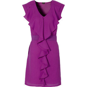 BODYFLIRT Robe violet manches courtes femme - bonprix