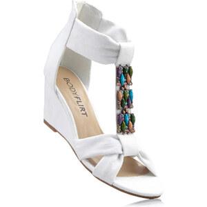 BODYFLIRT Sandales compensées blanc avec 6 cm talon compenséchaussures & accessoires - bonprix