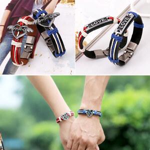 Lesara Ensemble de 2 bracelets pour couple