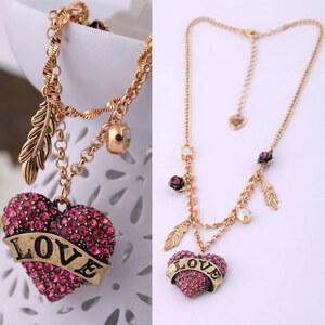 Lesara Halskette mit Herz-Anhängern