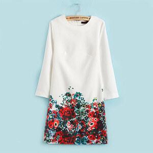 Lesara Kleid mit Blumen-Muster - Mehrfarbig - S