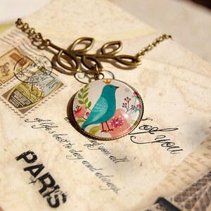 Lesara Vintage-Halskette mit Vogel-Anhänger