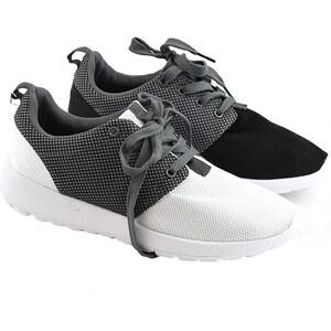 Lesara Damen-Sneaker Zweifarbig - Schwarz - 36