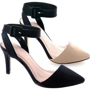 Lesara High Heels mit Riemchen - Beige - 36