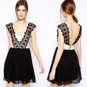 Lesara Kleid mit Spitze - M-L