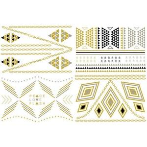 Lesara 4er-Set Schmuck-Tattoos im Hippie-Design