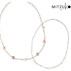 Lesara Mitzuko Halskette mit Perlen-Anhängern - Rosé