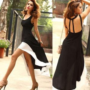 Lesara Kleid mit Rücken-Ausschnitt - M