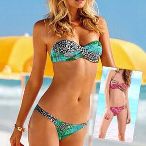 Lesara Bandeau-Bikini mit gedrehtem Oberteil - Rot - S
