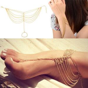 Lesara Fuß- und Armkette