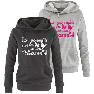 Lesara Damen-Sweatshirt mit Prinzessinnen-Spruch-Motiv - Grau - M