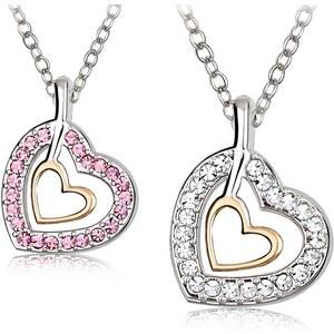 Halskette mit Swarovski Elements im Herz-Design - Weiß