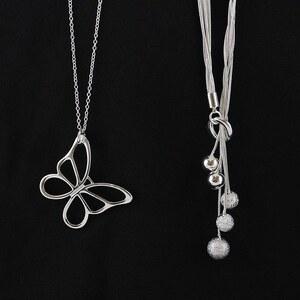 Lesara Damen-Halskette mit Anhängern - Design 1