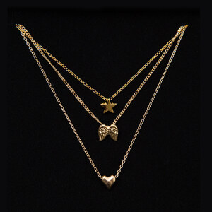 Lesara Halskette mit 3 Anhängern