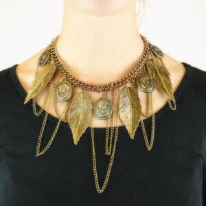 Lesara Halskette mit Blättern und Münzen