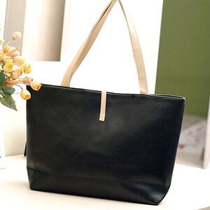 Lesara Shopper mit kleiner Tasche - Schwarz