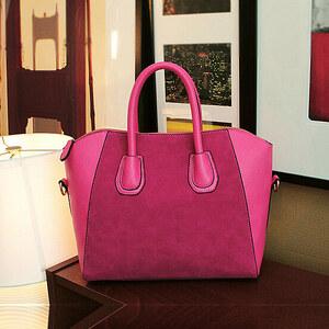 Lesara Handtasche mit Velours-Details - Blau