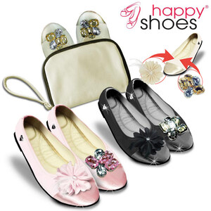 Lesara Happy Shoes 3-in-1-Design-Wohlfühl-Ballerina - Rosé - 42/43