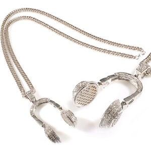 Lesara Halskette mit Kopfhörer-Anhänger