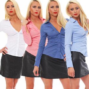 Lesara Damen-Bluse mit V-Ausschnitt - Rosé - M