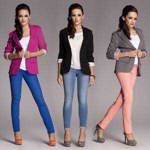 Lesara Damen-Blazer mit Umschlag - Violett - M