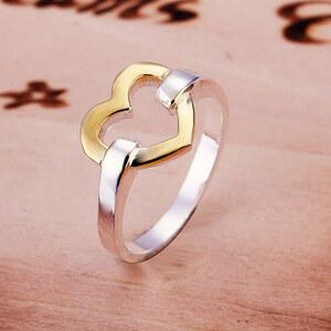 Lesara Damen-Ring mit Herz - Silber - 52