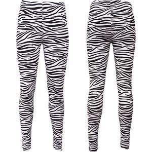 Lesara Damen-Leggings im Zebra-Look - Mehrfarbig - S-M