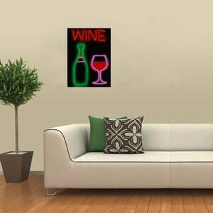 Lesara LED-Bild auf Leinwand Wein