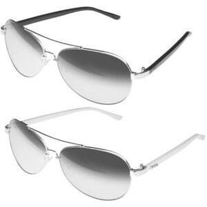 Lesara KMA Shades Sonnenbrille Tijuana - Schwarz-Silber