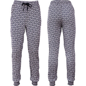 Lesara Damen-Stoffhose mit Muster - M